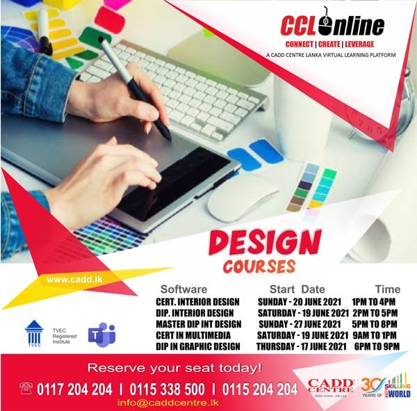Design Courses Training Calendar