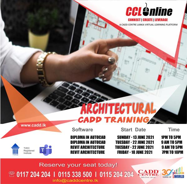 Architectural CAD Training Calendar